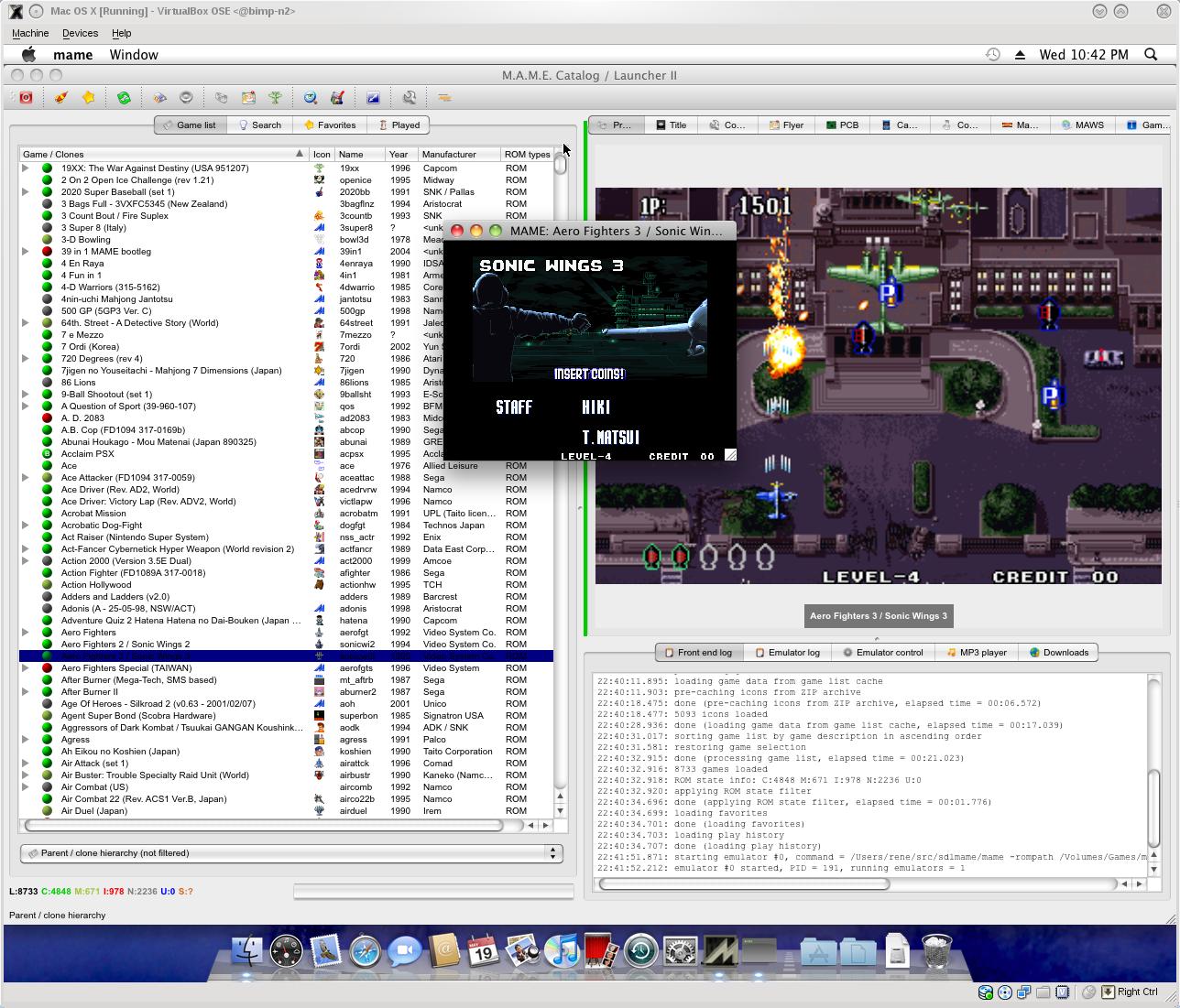 SDL MAME for Mac OSX | Mac Emulators Blog